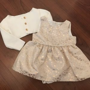 Baby Dress and Cardigan